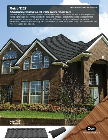 to download the Metro TILE® Data Sheet - Metro Roof Products