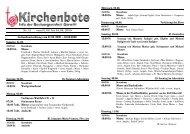 Kirchenbote 15 - Seelsorgeeinheit Görwihl