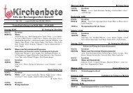 Kirchenbote 16 - Seelsorgeeinheit Görwihl