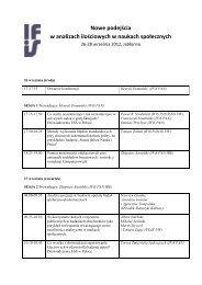 Program konferencji w Jabłonnie - Instytut Filozofii i Socjologii PAN