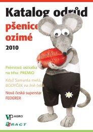 Katalog ozimých pšenic 2010 ke stažení - VP Agro