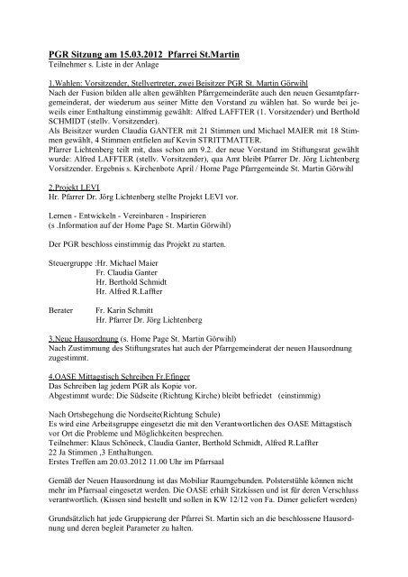 Sitzung 15.03.2012