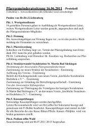 Pfarrgemeinderatssitzung 16.06.2011