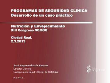 Programas de seguridad clínica. Desarrollo de un caso práctico