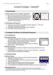 Vektorgrafik Grundlagen