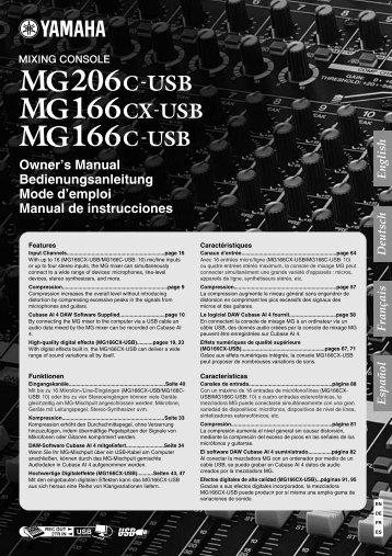 MG206C-USB/MG166CX-USB/MG166C-USB Owner's Manual
