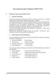 Sprawozdanie Zarządu z działalności Grupy Kapitałowej - Fota SA