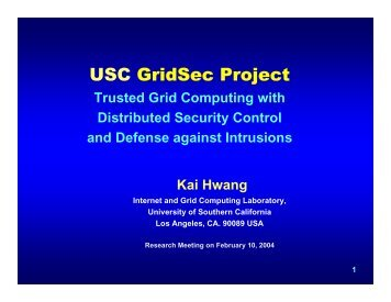Trusted Grid Computing with Distributed Security Control and ...