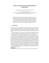 Advances in Polytime Isomorph Elimination for Configuration