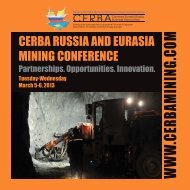 CERBA RussiA And EuRAsiA Mining ConfEREnCE - Canada ...