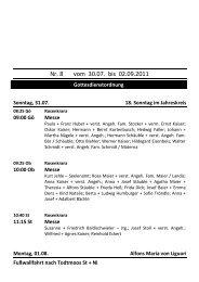 Kirchenbote 08 - Seelsorgeeinheit Görwihl