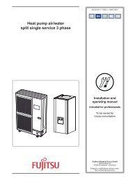 Heat pump air/water split single service 3 phase