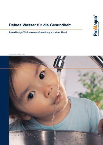 Broschüre - Reines Wasser für die Gesundheit