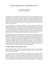 Kyoto trapped by the Tabula Rasa myth? - Paris School of Economics