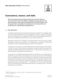 Conscience, reason, and faith