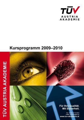 Kursprogramm 2009–2010 - TÜV Austria Akademie