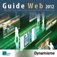 Guide Web 2007 - Invest in wallonia