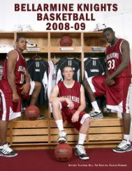 2008-09 Media Guide - Bellarmine Athletics - Bellarmine University