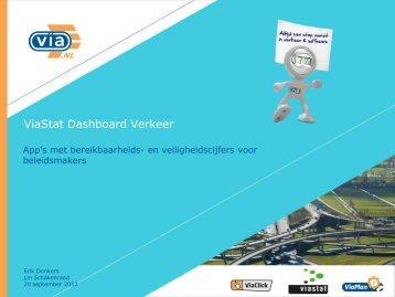 ViaStat Dashboard Verkeer - Connekt