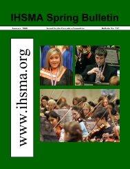 Spring Bulletin No. 232 - January 2008 - The Iowa High School ...