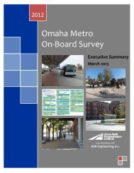 Omaha Metro On-Board Survey - Texas A&M Transportation Institute