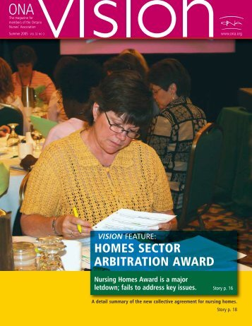 homes sector arbitration award - Ontario Nurses' Association