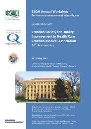 ESQH Annual Workshop Croatian Society for Quality Improvement ...