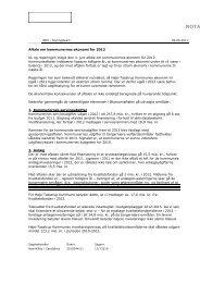 Aftale om kommunernes økonomi for 2012 KL og regeringen indgik ...