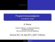 Unendliche Listen - Otto-von-Guericke-Universität Magdeburg