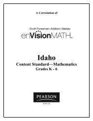 Math Program: The Scott Foresman/Addison Wesley textbook