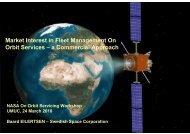 Market Interest in Fleet Management On Orbit Services – a ... - Nasa