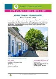 Athénée Royal de Ganshoren (.pdf) - Bruxelles Environnement