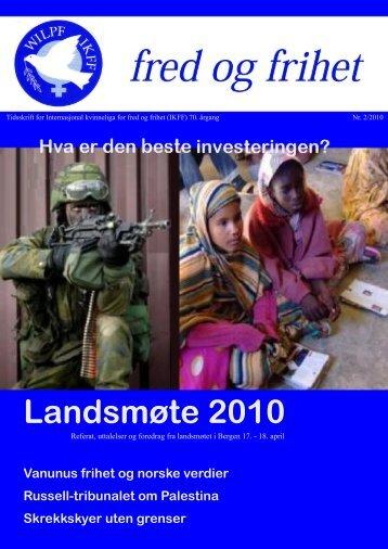 Fred og frihet nr. 2/2010 - IKFF