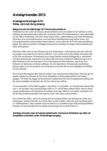 Hälsa, vård och övrig omsorg - Arbetsgivarföreningen KFO