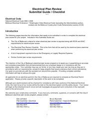 Electrical Plan Review Submittal Guide / Checklist - City of Bellevue