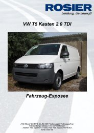 Fahrzeug-Exposee VW T5 Kasten 2.0 TDI