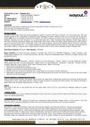 SPICE HOTEL & SPA / SUMMER 2011 Address : Ä°skele ... - Wayout
