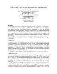 COMUNIDADES VIRTUAIS – UM NOVO ESPAÇO DE ... - cinted/ufrgs