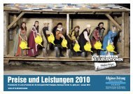 Preise und Leistungen 2010 - All-in.de