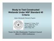 Study to Test Constructed Wetlands Under NSF Standard 40 Criteria