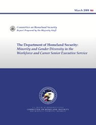 Department of Homeland Security: Minority and Gender Diversity in ...