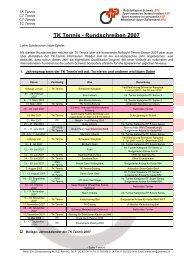 TK Tennis - Rundschreiben 2007 - Rollstuhl - Tennis Schweiz