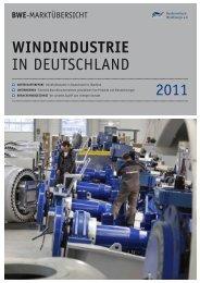 2011 WINDINDUSTRIE in DeutschlanD - Wind-Energy-Market
