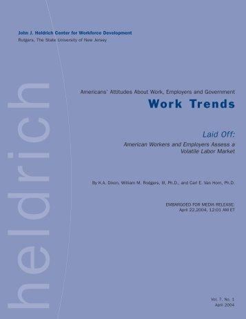 Survey - John J. Heldrich Center for Workforce Development ...