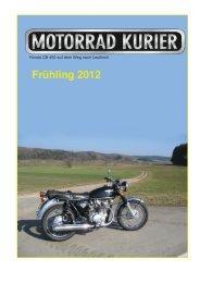 Honda CB 450 auf dem Weg nach Leutkirch - Motorrad-Kurier
