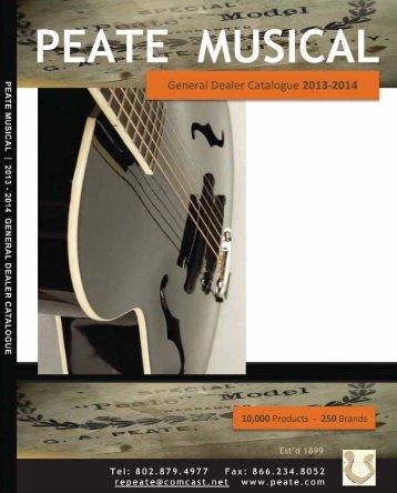 here - Peate Musical Supplies Ltd.