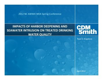 impacts of harbor deepening and seawater ... - NC AWWA-WEA