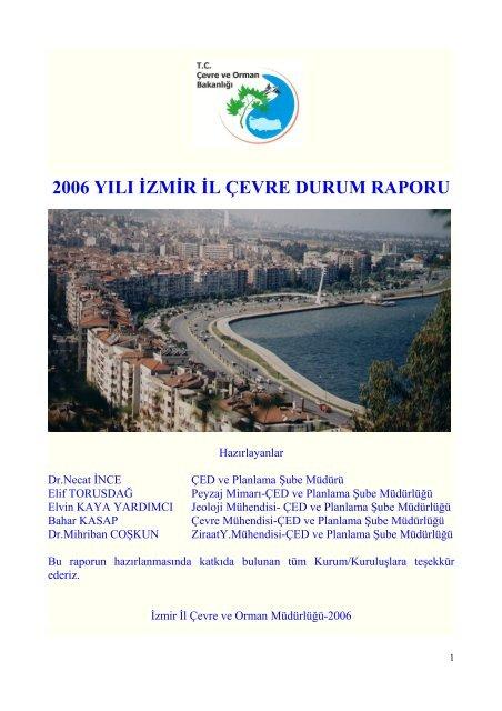 2006 yılı izmir il çevre durum raporu - çevresel etki değerlendirme ...