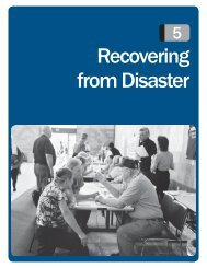 Recovering from Disaster - Federal Emergency Management Agency