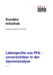 Kunden Infothek Laborgeräte aus PFA ... - Bürkle GmbH